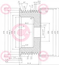 CCP10925 PLUG BOSCH Type PR8 17 mm 72 mm 35 mm