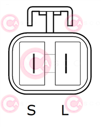CAL41103 PLUG POONGSUNG Type 12V 50Amp