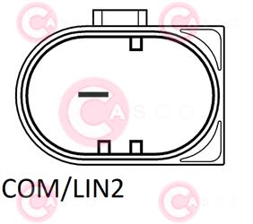CAL15081 PLUG VALEO Type 12V 165Amp PFR6