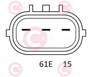 CAL15266 PLUG VALEO Type 12V 120Amp PR5