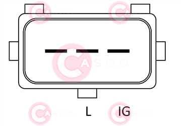 CAL15127 PLUG VALEO Type 12V 150Amp PR5
