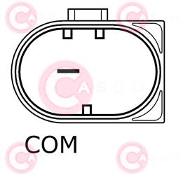 CAL10380 PLUG BOSCH Type 12V 180Amp PFR7