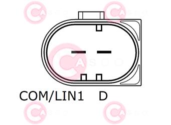 CAL10311 PLUG BOSCH Type 12V 150Amp PFR6