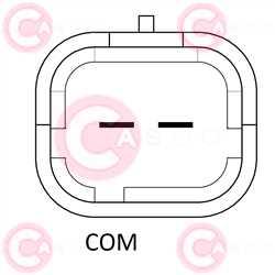 CAL10409 PLUG BOSCH Type 12V 145Amp PFR6