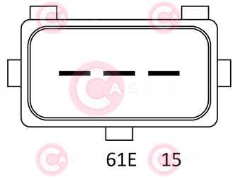 CAL15346 PLUG VALEO Type 12V 140Amp PR6