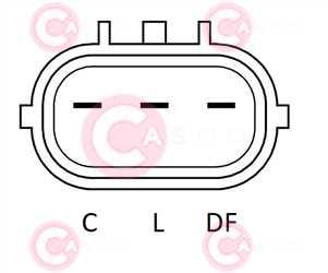 CAL32163 PLUG MANDO Type 12V 90Amp PFR5