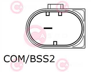 CAL15537 PLUG VALEO Type 12V 180Amp PV6