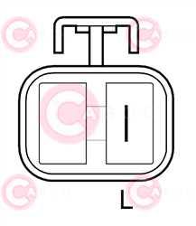 CAL20605 PLUG HITACHI Type 24V 50Amp PM3