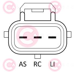 CAL15574 PLUG VALEO Type 12V 120Amp PR6