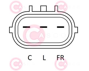 CAL32173 PLUG MANDO Type 12V 110Amp PFR6