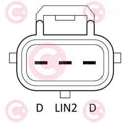 CAL40361 PLUG DENSO Type 12V 220Amp PFR6