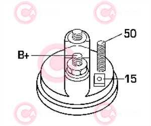 CST10453 PLUG BOSCH Type 12V 1,40kW 9T CCW