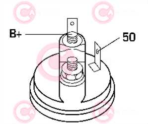 CST25105 PLUG LUCAS Type 12V 2,10kW 10T CW