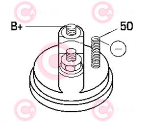 CST10476 PLUG BOSCH Type 12V 2kW 9T CW
