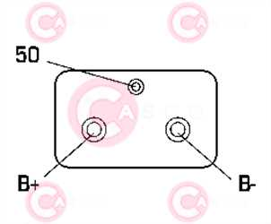 CST10643 PLUG BOSCH Type 24V 6,60kW 9T CW