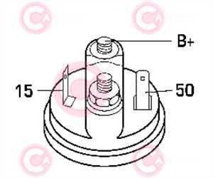 CST10012 PLUG BOSCH Type 12V 0,90kW 9T CW