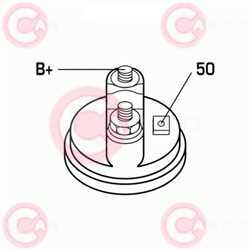 CST10611 PLUG BOSCH Type 24V 4kW 9T CW