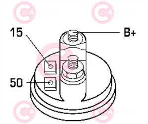 CST10393 PLUG BOSCH Type 12V 1,50kW 9T CW