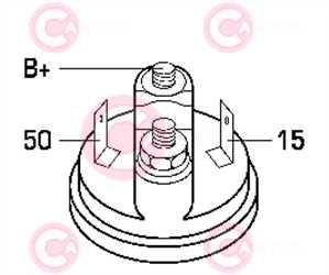 CST10106 PLUG BOSCH Type 12V 1,10kW 9T CW