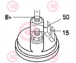 CST25104 PLUG LUCAS Type 12V 2,10kW 10T CW
