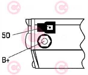 CST40227 PLUG DENSO Type 12V 2,20kW