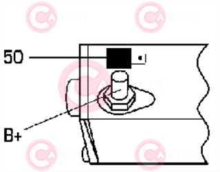 CST40163 PLUG DENSO Type 12V 2kW 9T CW