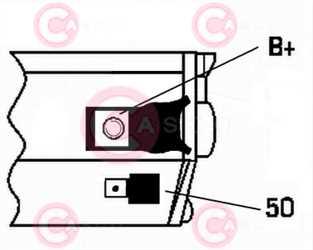CST32111 PLUG MANDO Type 12V 2,20kW 10T CW