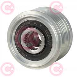 CCP90120 FRONT INA Type PFR6 17 mm 55,67 mm 41,60 mm
