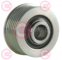 CCP90127 BACK INA Type PFR6 17 mm 56,67 mm 36,64 mm