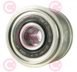 CCP90135 FRONT INA Type PFR7 17 mm 55,67 mm 44,50 mm