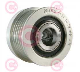 CCP90207 BACK INA Type PFR6 17 mm 49,71 mm 36,10 mm