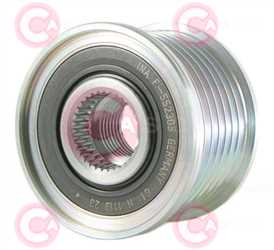CCP90222 FRONT INA Type PFR7 17 mm 49,05 mm 38,30 mm