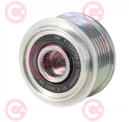 CCP90226 FRONT INA Type PFR6 17 mm 58,67 mm 36,30 mm